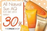 THEFACESHOP Natural Sun AQ ลด 30%